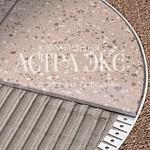 Г-образный напольный гибкий профиль TRD из алюминия