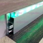 Плинтус со светодиодной подсветкой BG260 AS из алюминия