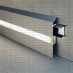 Плинтус светодиодный из алюминия BIL 70 AS