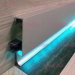 Плинтус BLL 94 AS из алюминия со светодиодной подсветкой