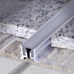 Деформационный шов 17 мм из алюминия c заменяемой вставкой из синтетической резины